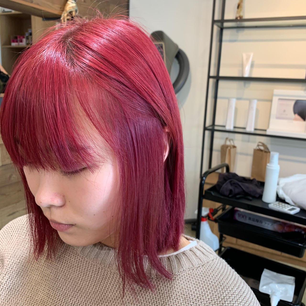 ブリーチオンカラー&髪質改善トリートメント