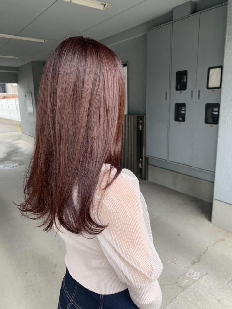 髪質改善カラー+カット(セミロング)③画像