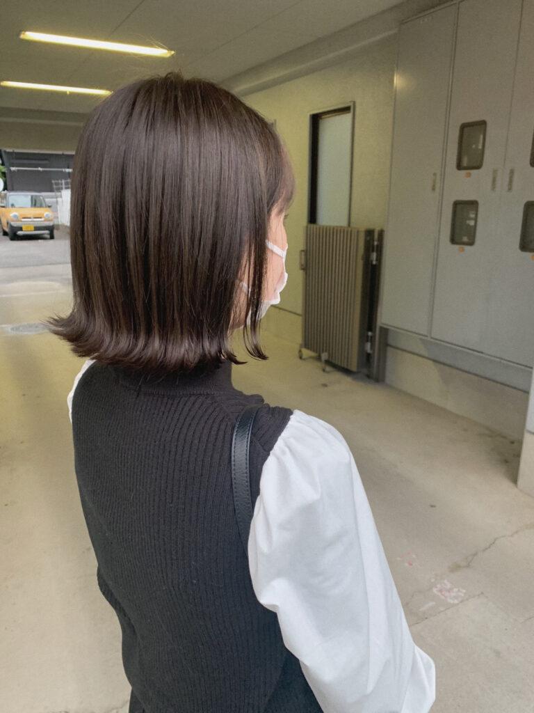 髪質改善カラー+カット(ミディアム)②画像