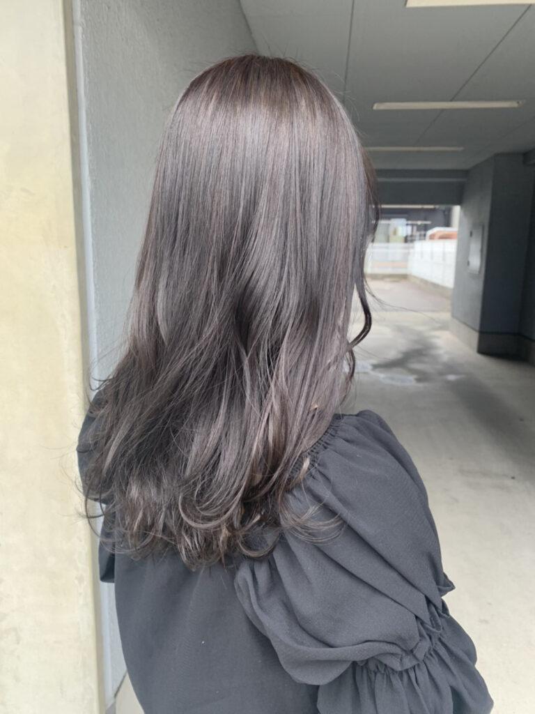 髪質改善カラー+カット(セミロング)②画像